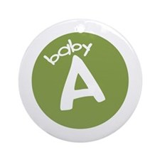 baby A Keepsake Ornament (Round)