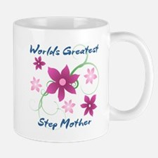 World's Greatest Step Mother (Flowery) Mugs