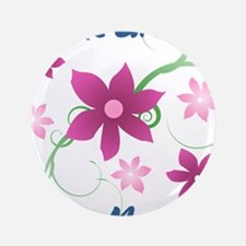 """World's Greatest Step Mother (Flowery) 3.5"""" Button"""