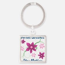 World's Greatest Step Mother (Flowery) Keychains