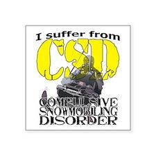 """CSD Compulsive Snowmobile D Square Sticker 3"""" x 3"""""""