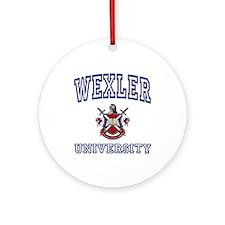 WEXLER University Ornament (Round)
