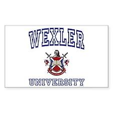 WEXLER University Rectangle Decal