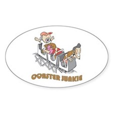 Roller Coaster Junkie Oval Decal