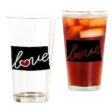 North Dakota Love Drinking Glass