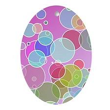 Colorful bubbles Ornament (Oval)