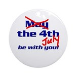 Get 'The Force of July' Ornament (Round)