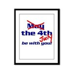 Get 'The Force of July' Framed Panel Print