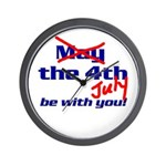 Get 'The Force of July' Wall Clock