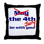 Get 'The Force of July' Throw Pillow