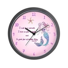 Mermaid Musings Wall Clock