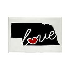 Nebraska Love Rectangle Magnet (100 pack)