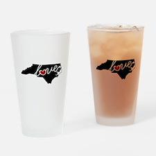 North Carolina Love Drinking Glass