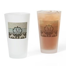 Personalize this Monogram Design Drinking Glass