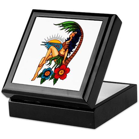 Island Sunset Tattoo Art Keepsake Box