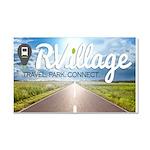 Rvillage Logo Car Magnet 20 X 12