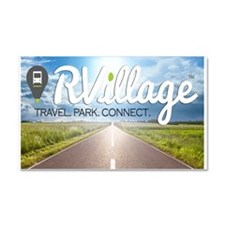 Rvillage Logo Car Magnet 20 X 12