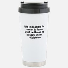 Man to Learn Stainless Steel Travel Mug