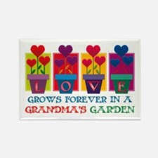 Grandma's Garden Rectangle Magnet