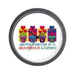 Grandma's Garden Wall Clock