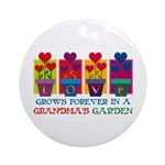 Grandma's Garden Ornament (Round)