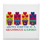 Grandma's Garden Tile Coaster