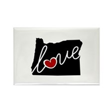 Oregon Love Rectangle Magnet (100 pack)