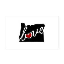 Oregon Love Rectangle Car Magnet