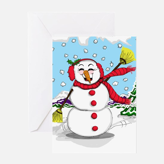 Snowtime Is Showtime! Greeting Cards