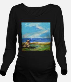 Cute Wheaton terrier Long Sleeve Maternity T-Shirt
