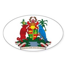 Grenada Coat of Arms Oval Decal