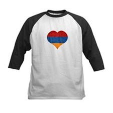 Armenian Flag Heart Baseball Jersey