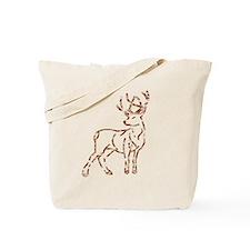 Majestic Deer Outline Tote Bag