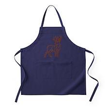 Majestic Deer Outline Apron (dark)