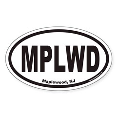 Maplewood MPLWD Euro Oval Decal