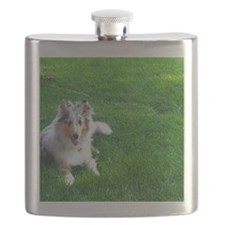 Stitch the Collie Flask