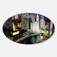 Chicago Photos Oval Decal