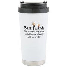 Best Friends Knows Funn Travel Coffee Mug