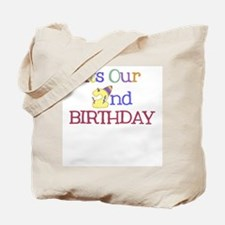 It's Our 2nd Birthday - Tote Bag