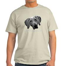 Gray T-Shirt Large Center Logo