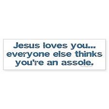 Jesus loves you Bumper Bumper Bumper Sticker