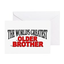 """""""The World's Greatest Older Brother"""" Greeting Card"""