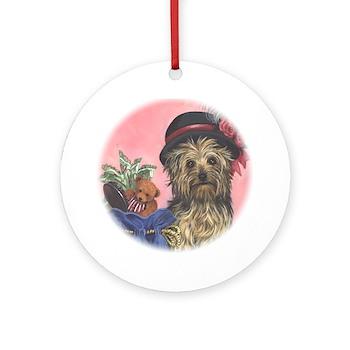 United Yorkie Rescue Ornament (Round)