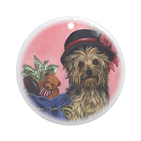 United Yorkie Rescue Ornament (Round)