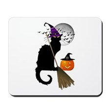 Le Chat Noir - Halloween Witch Mousepad