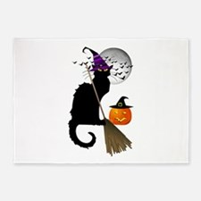 Le Chat Noir - Halloween Witch 5'x7'Area Rug