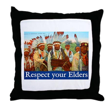 RESPECT YOUR ELDERS Throw Pillow