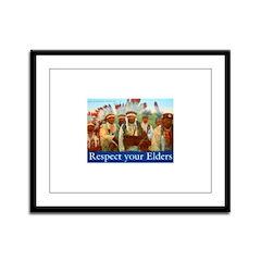 RESPECT YOUR ELDERS Framed Panel Print