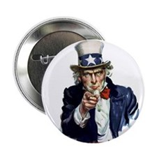 Uncle Sam Wants you Button