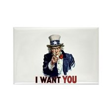 Uncle Sam Wants you Rectangle Magnet